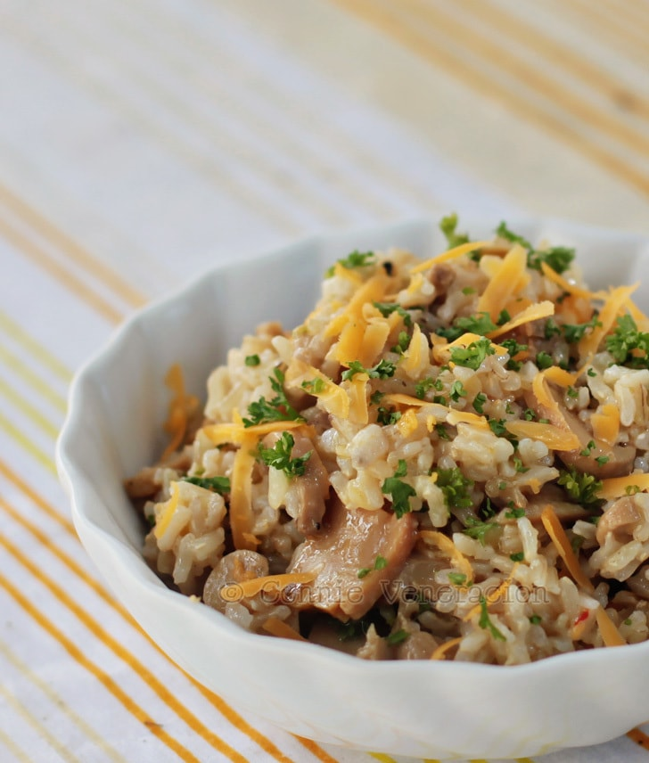 Cheese and mushrooms rice | casaveneracion.com