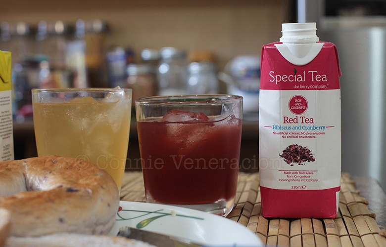 Hibiscus and coconut water in The Berry Tea Company's Special Tea