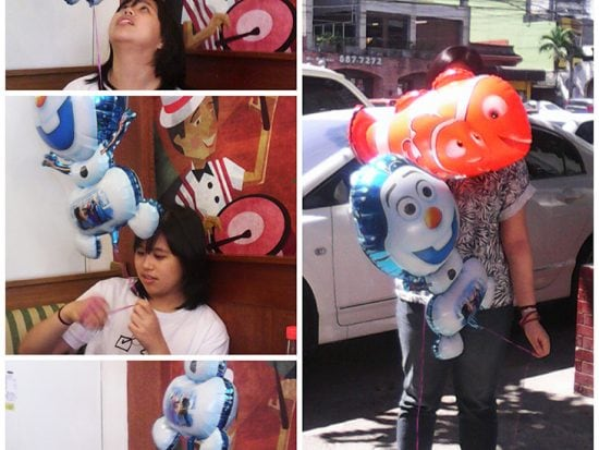 My daughters love balloons, Nemo and Olaf