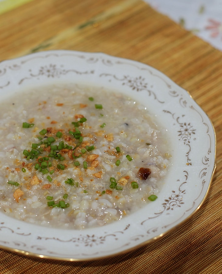 Cooking congee with brown rice