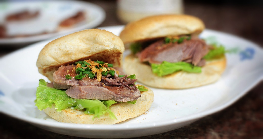 Spicy cold ox (beef) tongue sandwiches | casaveneracion.com