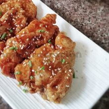 Bonchon-style Korean Fried Chicken Steaks