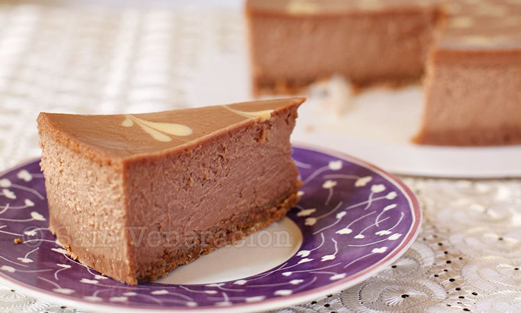 Nutella cheesecake with chocolate shortbread crust recipe