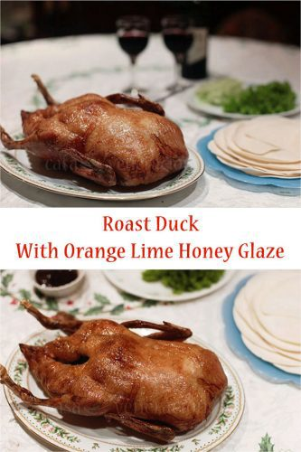 Holiday Perfect Roast Duck With Orange Lime Honey Glaze