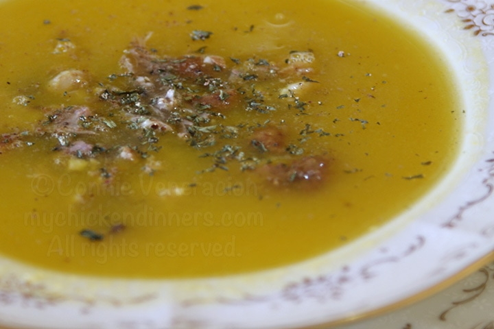 Squash and Potato Duck Soup