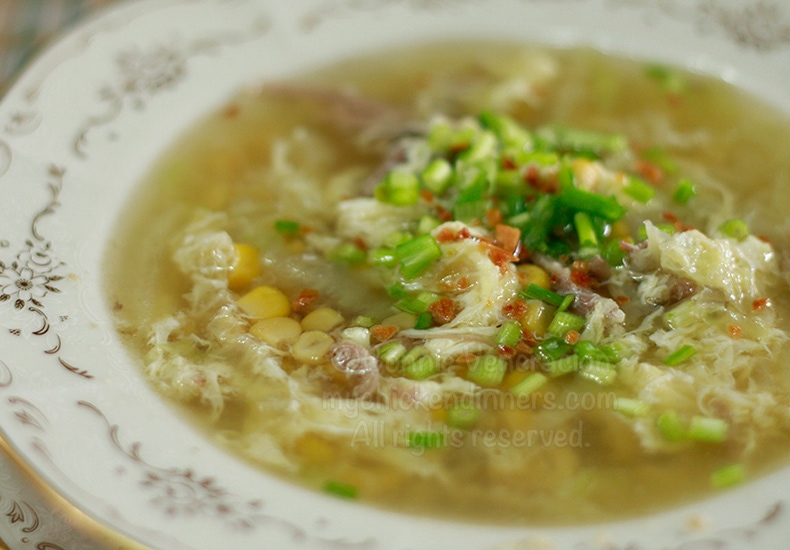 Duck Egg Drop Soup With Corn and Cabbage | casaveneracion.com