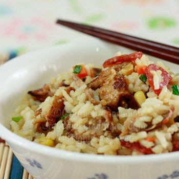 Duck Cracklings Fried Rice