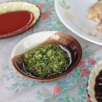 Hainanese Chicken Rice Dipping Sauces