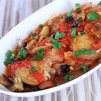Chicken and Portobello in Tomato Basil Sauce