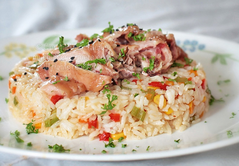 Chicken Ham Rice | casaveneracion.com