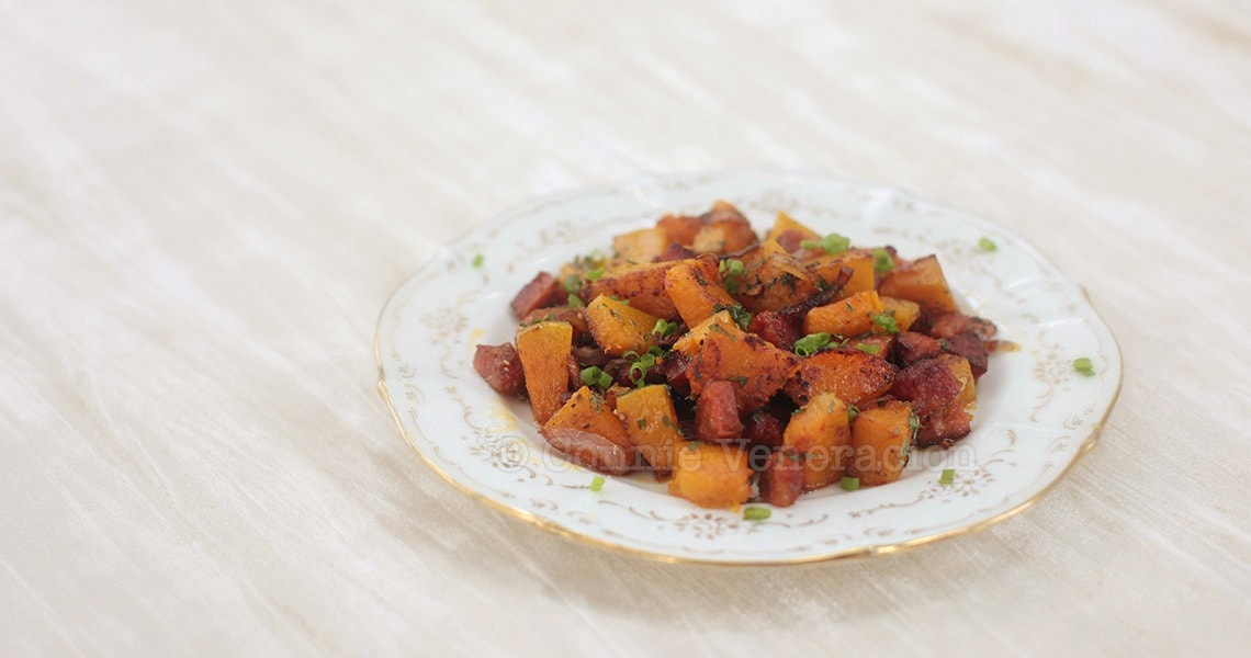 Perfect for brunch: squash with chorizo | casaveneracion.com