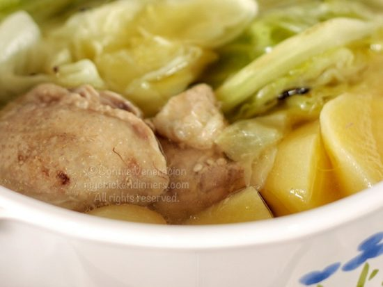 Rustic Chicken Cabbage Soup With Potatoes