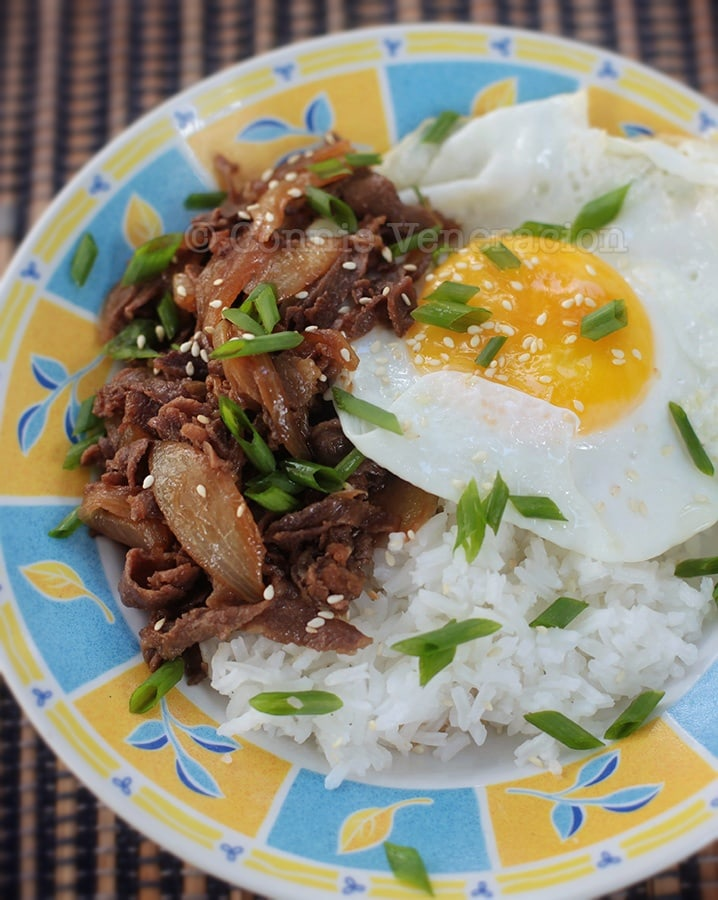 Gyudon for lunch: ready in 15 minutes