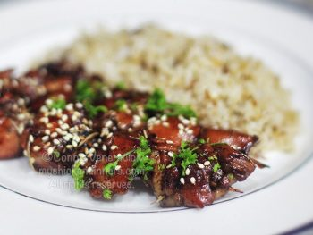 Skewered Honey Balsamic Chicken
