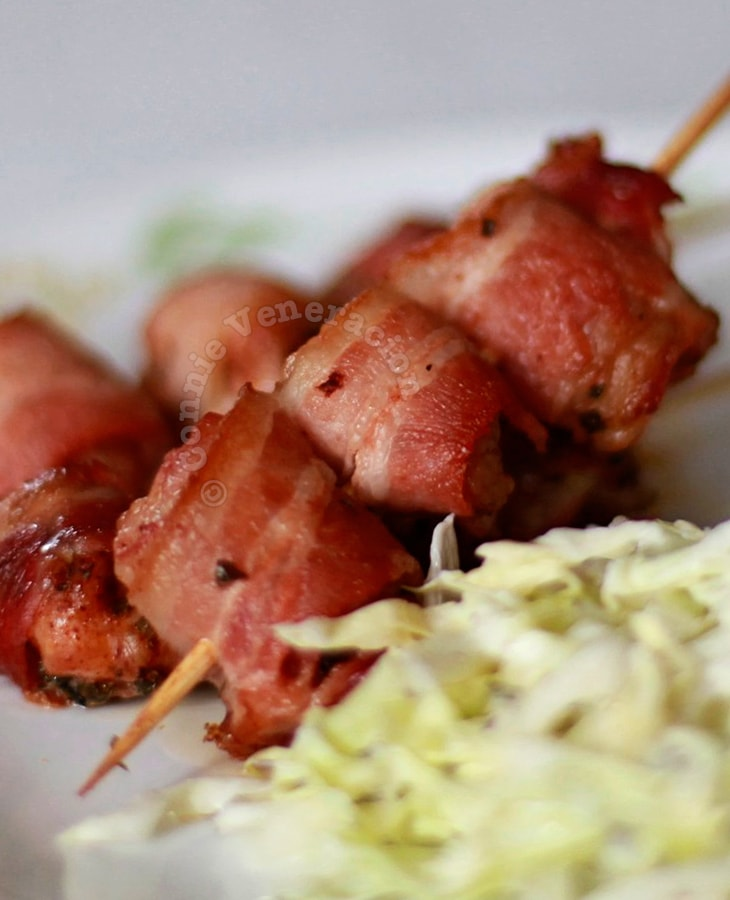 Bacon-wrapped Chicken Satay