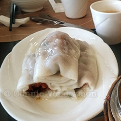 Cheong fan (rolled rice noodles)