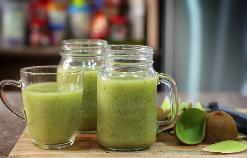Honeydew, kiwi and cucumber smoothie | casaveneracion.com