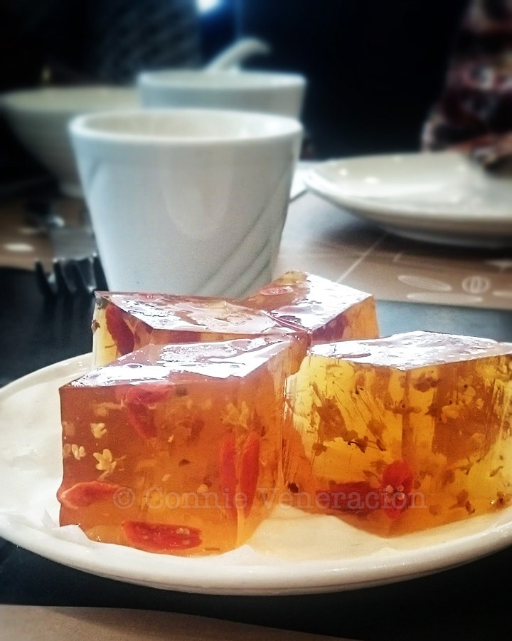 Osmanthus Jelly at Pak Loh Chiu Chow Restaurant, HK International Airport