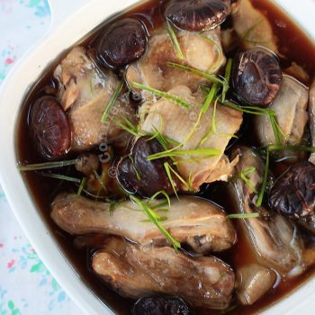 Chinese Steamed Chicken and Mushrooms