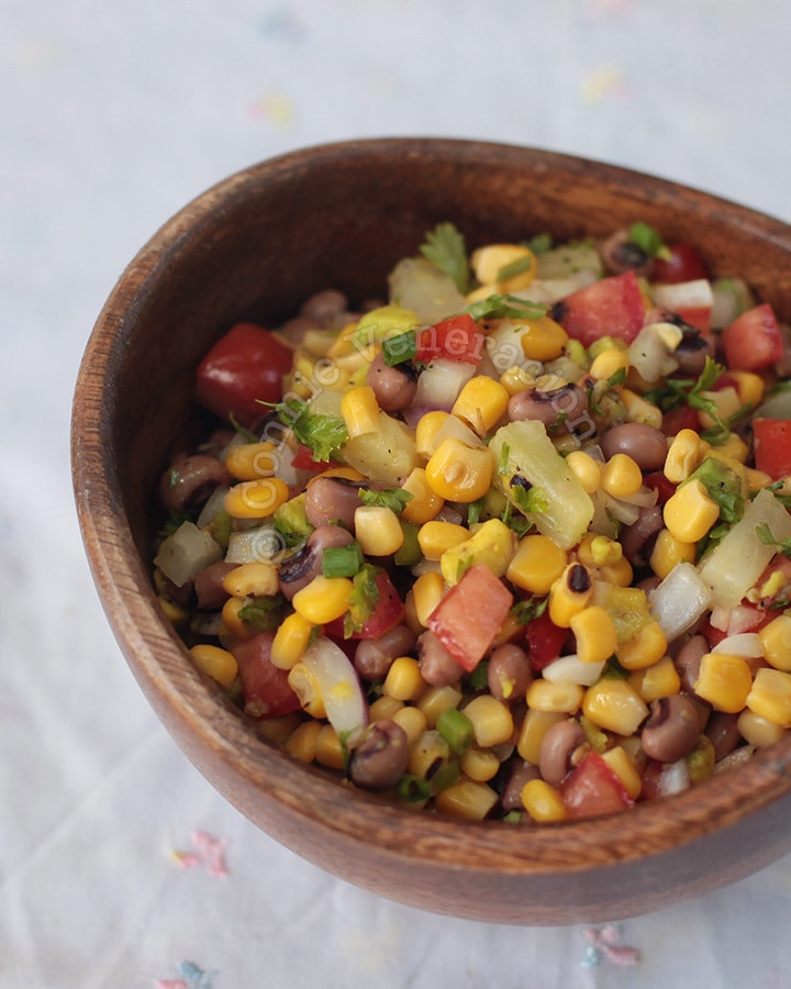 Black-eyed Beans and Corn Salad