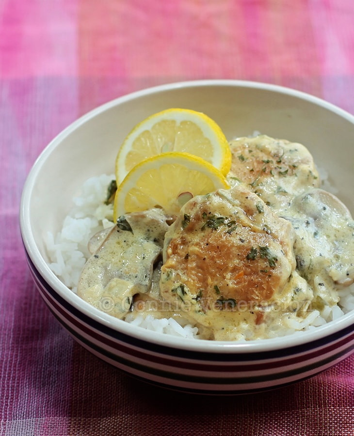 Creamy Lemon Garlic Chicken