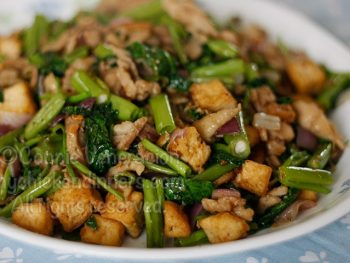 Chili Garlic Chicken Tofu Stir Fry