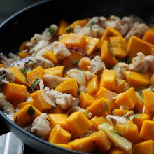 Sauteed Tarragon Chicken With Squash