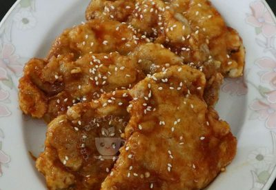 Bonchon-style Fried Chicken Steaks Recipe