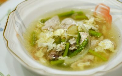 Chicken Asparagus Eggdrop Soup