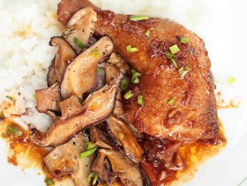 Soy-braised Chicken With Shiitake Mushrooms