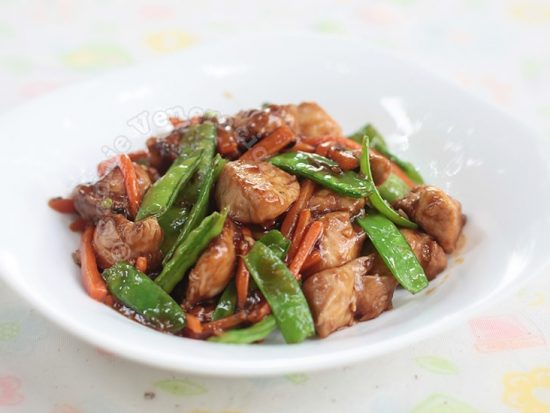 Chicken Snow Peas Stir Fry