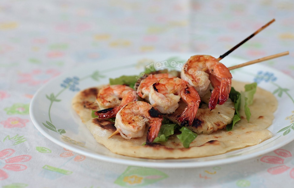 Grilled Chili Lime Shrimps | casaveneracion.com