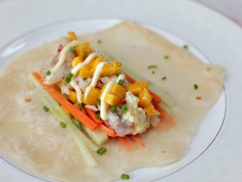 Lemon Chili Garlic Fish Tacos