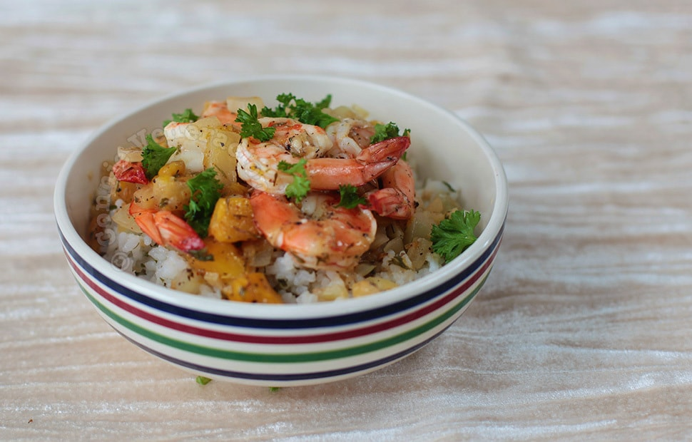 Shrimps With Sweet Mangoes and Pineapple | casaveneracion.com