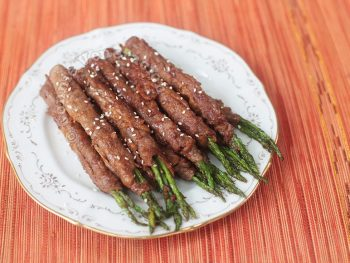 Beef-wrapped Asparagus With Teriyaki Sauce
