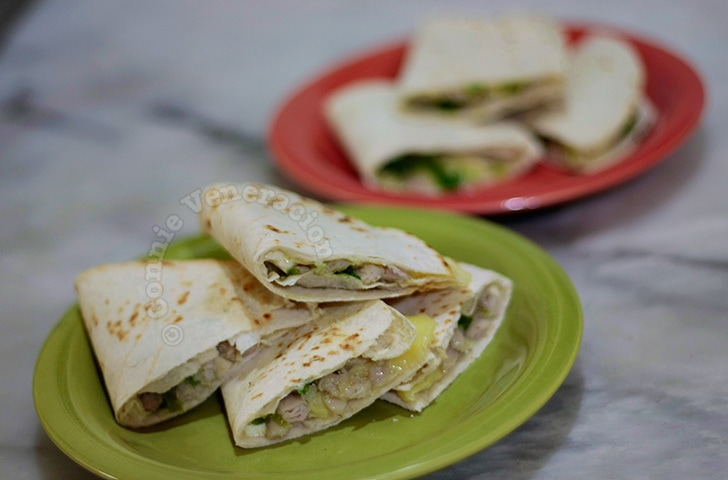 Chicken and Pesto Quesadillas