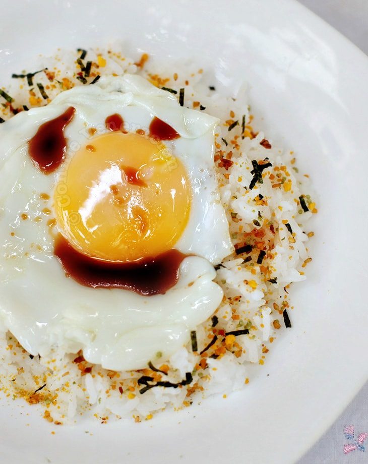 Fried Egg on Rice (Medama-yaki nokke gohan)