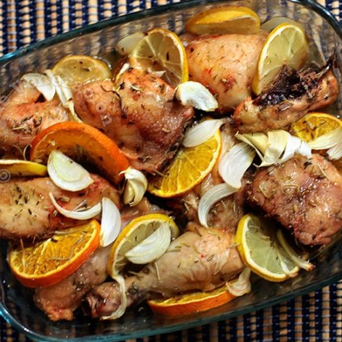 Baked Herbed Two-Citrus Chicken