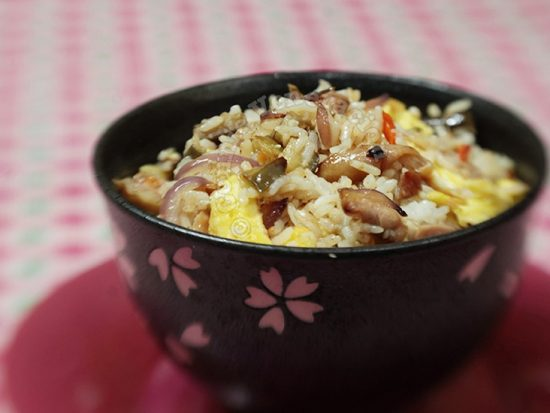 Chicken and Eggplant Fried Rice