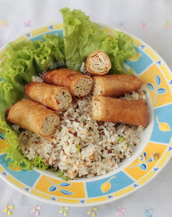Fried Chicken Spring Rolls