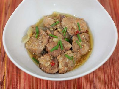 Lemongrass Chili Chicken With Coconut Juice