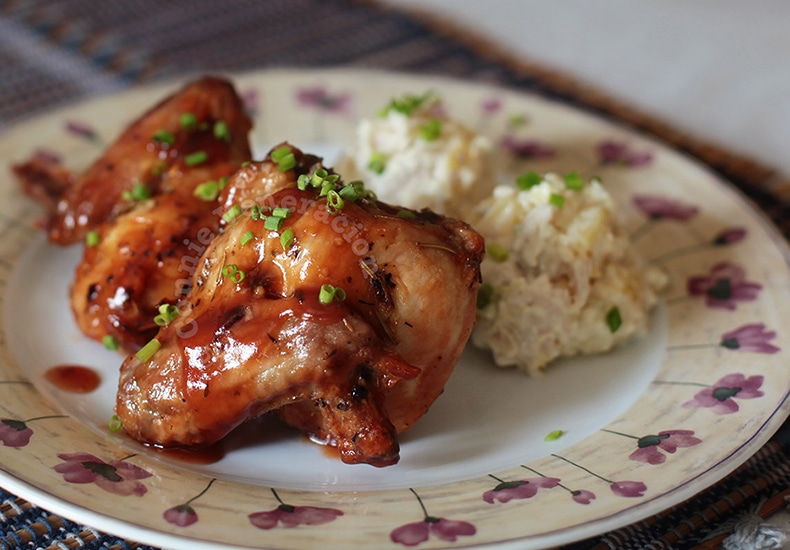 Mayo-marinated Grilled Chicken Wings