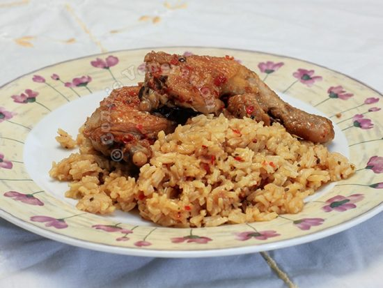 Chili-garlic Chicken and Rice