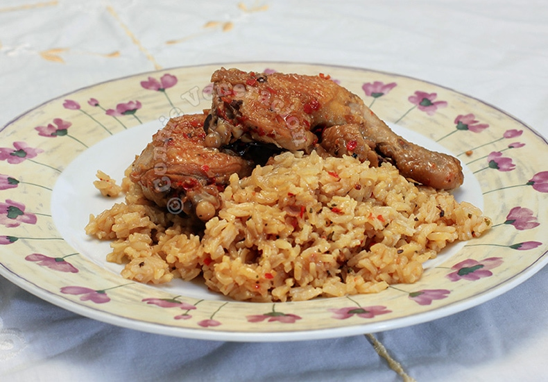 Chili-garlic Chicken and Rice | casaveneracion.com
