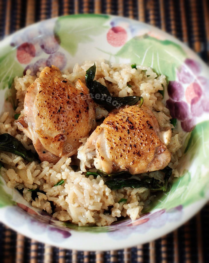 Seared Chicken With Spiced Basil Rice