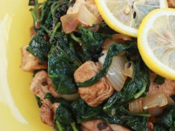 Chicken, Tofu and Spinach Stir Fry