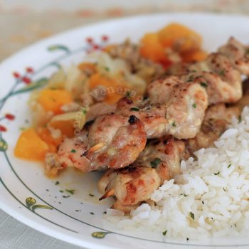 Mayo-marinated Chicken Skewers