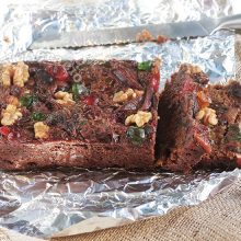 Eggless and Dairy-free Fruitcake