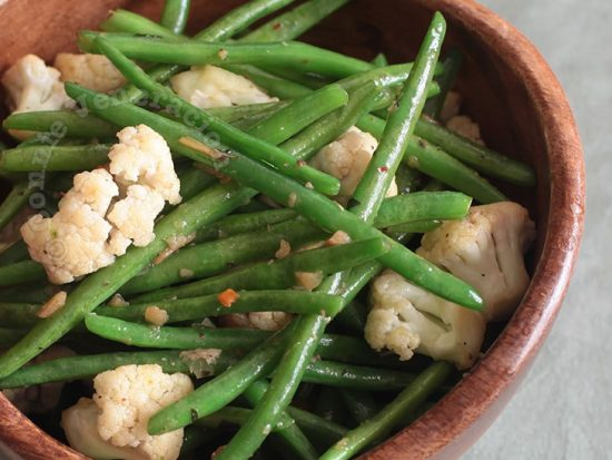 Green Beans and Cauliflower With Spiced Butter