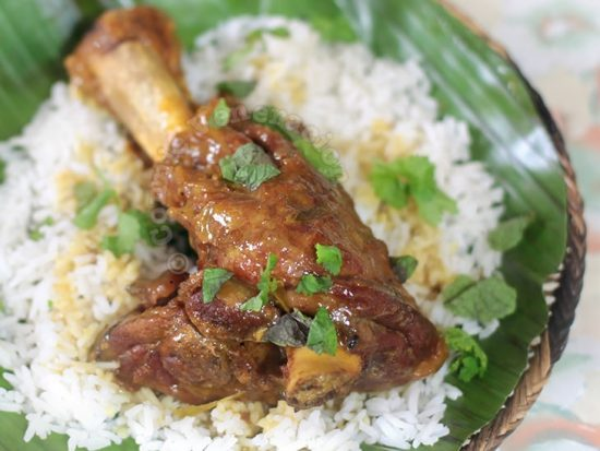 Lamb Shank Curry With Cider and Coconut Sauce